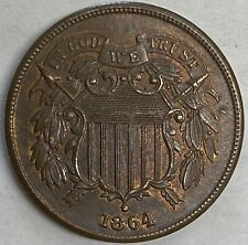 1864 Two Cent Piece LM  Very Sharp Uncirculated