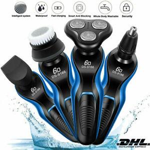 4 in 1 3D Rasierer Nass & Trocken Herrenrasierer Rasierapparat Elektrorasierer