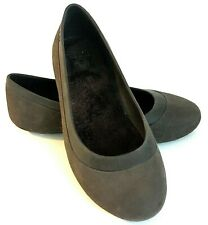 Crocs Mammoth Ballet Flat Sherpa Lined Brown Shoes Women Size 9