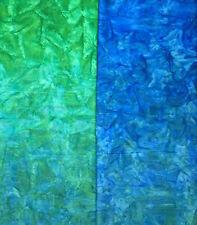 Kaufman Batik Fabric BLUEGRASS AMD-7034-372, By The Half Yard, Double Ombre