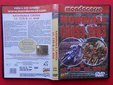 film dvd motociclismo motocross moto cross mondiale 2003 cl. 125 cl. 650 moto