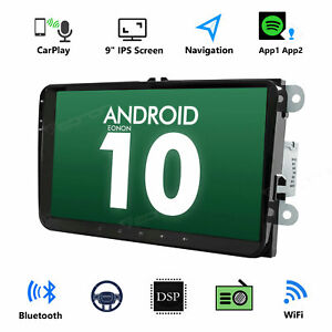 """Android 10 Head Unit 9""""Car GPS Navigation for Volkswagen Caddy Golf Jetta RCD360"""