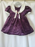 Nutcracker Girls Size 5 Purple Velour Christmas Dress Lace Trim Collar Holiday