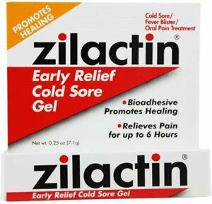 Zilactin Cold Sore Relief Gel 0.25 oz (pack of 4)