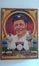 1982 DONRUSS DIAMOND KINGS BABE RUTH LIMITED EDITION WALL PLAQUE 330/800