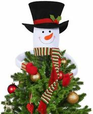 Winter Holiday Party Decoration Christmas Tree Topper Snowman Hugger