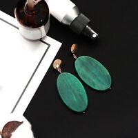 1Pair Women Bohemian Boho Wooden Dangle Ear Stud Earrings Vintage Jewelry Gift
