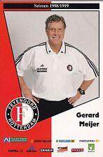 FOOTBALL carte masseur GERARD MEIJER équipe FEYENOORD ROTTERDAM