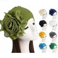 Muslim Women Flower Cancer Chemo Hat Hijab Hair Loss Head Scarf Turban Caps Wrap