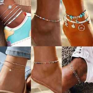 Fashion Jewelry Ankle Bracelet Foot Chain Gold Silver Women Beach Anklet Gifts
