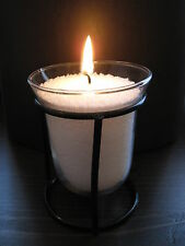 Fluted Glass & Metal Votive Tea Light Candle Holder Wedding Lovely Gift Idea