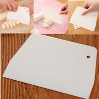 Plastic Plain Edge Side Scraper Icing Buttercream Smoother for Cake Decorating