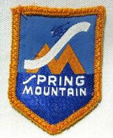Vintage Spring Mountain Patch Snow Ski Skiing Pennsylvania PA Travel Souvenir