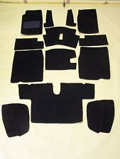 AUSTIN HEALEY BUGEYE 1958-1961  BLACK LOOP CARPET KIT WITH 20 OUNCE PADDING