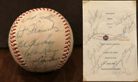 NY Mets Signed Baseball 1968 Team Nolan Ryan Boosters Program Seaver Stengel JSA