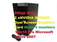 Dell Precision T5600 Computer Intel Xeon E5-2620 2.0ghz 32gb 500gb DVD Win10 Pro