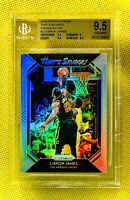 LEBRON JAMES 2018-19 Panini Prizm Silver Holo Refractor Lakers BGS 9.5 Gem