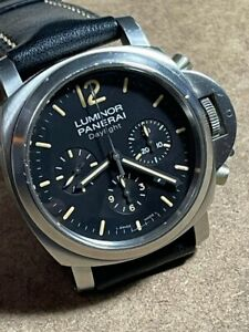 LUMINOR PANERAI DAYLIGHT CHRONOGRAPH STAINLESS STEEL CASE