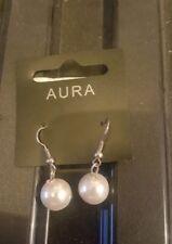 Aura BIANCO AVORIO VETRO orecchino di perla
