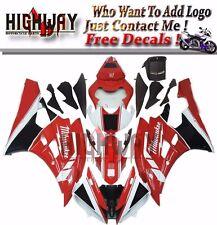 Fairings For Yamaha YZF-R6 YZF600 06 07 ABS Fairing Kit Bodywork Milwaukee Red