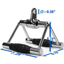 Chin Trianlge V Bar Close Grip Seated Row Handle Bar Rubber Grip Gym Equipment