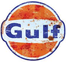 GULF OIL STICKER Ø3 à 120 cm effet Usé Racing Le mans herbie 53 cox SCRATCHED v2