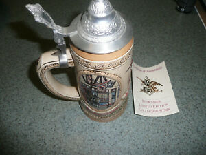 New Budweiser Limited Edition IV Tavern and Public House Tradition Lidded...