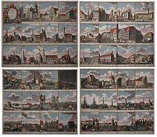 Augsburg - Prospectus praecipuorum... - 47 Ansichten auf 4 Blatt - Seutter 1742