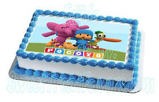 POCOYO Pato Cake Decoration Party Image EDIBLE Topper Birthday Cupcake Supplies