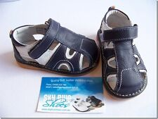 Boys Leather Sandals Navy/White for Toddler Kids Children for age 1 - 5 years