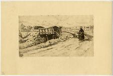 Antique Print-LANDSCAPE-BRIDGE-DUTCH COSTUME-Dupont-1894/95