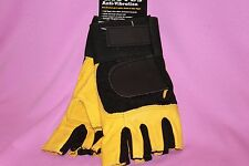 WESTERN SAFETY ANTI-VIBRATION HALF FINGER GEL IN PALM GLOVE SIZE LARGE NWT