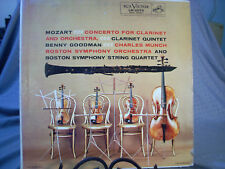 Mozart Concertos for Clarinet + Orchestra Charles Munch Boston Symphony Vinyl