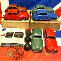 Vintage Chad Valley Wind Up Remote Control Cars Lot Of 6, Various Conditions