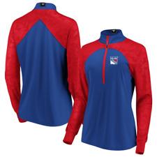 New York Rangers Jacket (Size L) Women's NHL Blue/Red Quarter Zip - New