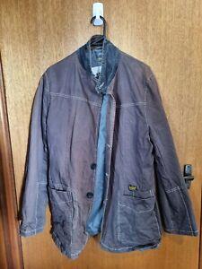 G Star Raw Organic Vintage Mens Jacket  Dark Wash Size XL
