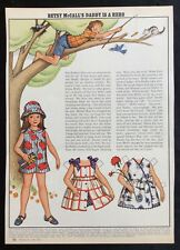 Betsy McCall Mag. Paper Doll, Betsy McCall's Daddy is A Hero, June1972