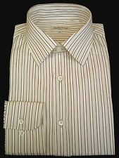 "Shirt - Dress - Men's - 15 1/2"" neck - Italian - Cotton - Striped - From Italy"