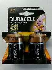 1X2 Duracell PLUS Power SIZE D Batteries NEW DURALOCK MN1300 LR20 1.5 V
