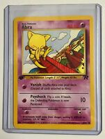 ABRA 1st Edition ENGLISH 49/82 TEAM ROCKET Vintage Pokemon NEAR MINT CONDITION
