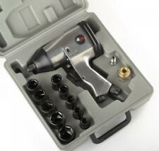 """1/2"""" Air Impact Wrench Kit W/ Sockets Sae w/ Case Automotive Compressor Tools"""