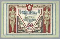 Notgeld - Nörenberg - Stadt Nörenberg (heute Ińsko in Polen) - 50 Pfennig - 1921