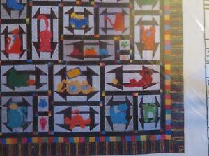 Wendell's Friends - cat -theme quilt pattern