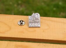 KORG 40th Anniversary Silver Tone Metal Lapel Pin Pinback