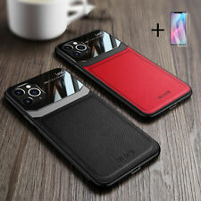 For iPhone 12 11 Pro XR X Max 8 Plus Hybrid Leather Protective Case Slim Cover