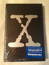 THE X-FILES: GROUND ZERO Anderson 1st Ed SIGNED Hardcover #156/2500 New Sealed