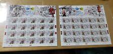 Malaysia 2018 Hari POS Sedunia World Post Day stamp sheetlet pair MNH 2 sheets