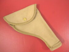 WWII Era British Khaki Canvas Holster for the Webley 455 Revolver - Reproduction