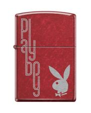 Zippo 1169 Playboy Bunny Logo Candy Apple Red Finish Lighter