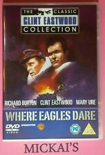 WHERE EAGLES DARE - THE CLASSIC CLINT EASTWOOD COLLECTION CCECN20 DeAGOSTINI DVD